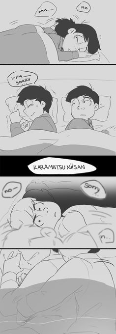 [Click through to read the rest!] Ichimatsu and Karamatsu ||| Osomatsu-san Fan Art by kore-chan on Tumblr