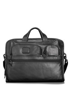 Tumi 'Alpha 2' Softside Expandable Leather Laptop Briefcase available at #Nordstrom