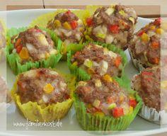 Herzhafte Muffins mit Hackfleisch und Gemüse lassen sich gut vorbereiten und eignen sich prima für Picknick und Buffett