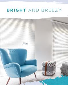 & Breezy With Beautiful White PVC Venetian Blinds Bright & Breezy With Beautiful White PVC Venetian Blinds! Bright & Breezy With Beautiful White PVC Venetian Blinds! Add an illusion of height and a touch of sophistication to complete the look with. White Blinds, Blinds Online, Interior Styling, Interior Design, Shades Blinds, Window Styles, Blinds For Windows, Coastal Style, Summer Decorating