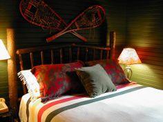 Bedroom inspiration, Adirondack style.
