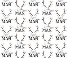 Little Man Arrow & Horns  fabric by hudsondesigncompany on Spoonflower - custom fabric