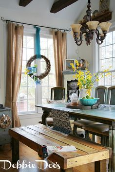 Spring in the kitchen with some diy budget friendly craft and wreath ideas!