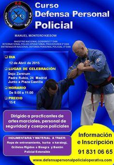 Curso de Defensa Personal Policial en Madrid el 12 de abril