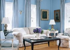 blue color at home