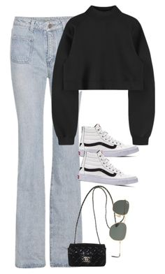 """Sem título #1594"" by oh-its-anna ❤ liked on Polyvore featuring Yves Saint Laurent, Vans, Chanel and Ray-Ban"