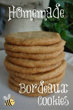 Homemade Bordeaux Cookies - the closest thing to Pepperidge Farms crispy cookies