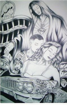 . Wolf Paw Print, Gangster Tattoos, Cholo Style, Prison Art, Lowrider Art, Brown Pride, Aztec Warrior, Bonnie Clyde, Chicano Art