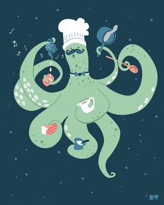 octopus chef - Google Search