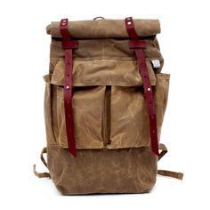 4f60eb3eb02 Sketchbook Tan Waxed Canvas Camper Backpack Hiking Backpack, Diy Backpack,  Canvas Backpack, Cotton