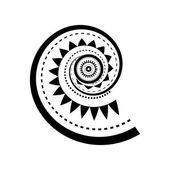 Maori Stil Spirale Tätowierung — Stockvektor