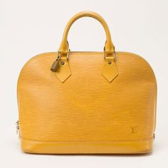 Louis Vuitton Alma In Epi Yellow B, reminds me of the movie Marnie