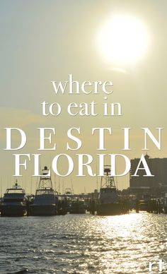 Where to Eat in Destin, Florida by Round Trip Travel