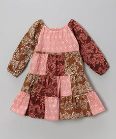 Take a look at this Dusty Bandanna Patch Peasant Dress - Infant, Toddler & Girls by Young Colors on #zulily today!