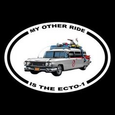 """New """"MY OTHER RIDE IS THE ECTO-1"""" ghostbusters BUMPER STICKER, prop decal, movie"""