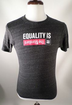 Mens Size M Alternative Earth Heathered Gray Equality is The Standard T Shirt