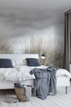 Wallpaper mural Pale Shore by Rebel Walls shows a soft scenery of a gray beach on Gotland, Sweden. Wallpaper mural Pale Shore by Rebel Walls shows a soft scenery of a gray beach on Gotland, Sweden. Plant Wallpaper, Botanical Wallpaper, Modern Wallpaper, Home Wallpaper, Wallpaper Murals, Designer Wallpaper, Neutral Colour Palette, Creative Decor, Cheap Home Decor