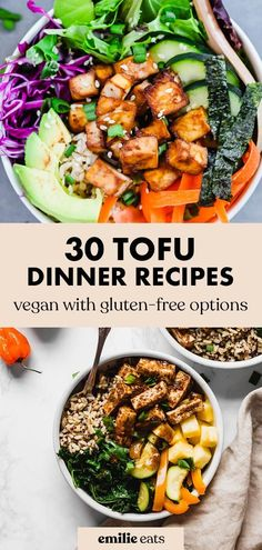 Tofu Dinner Recipes, Easy Vegan Dinner, Tofu Recipes, Vegan Recipes Easy, Free Recipes, High Protein Vegan Recipes, Healthy Living Recipes, Vegan Dinners, Nachos