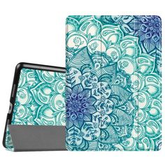 Fintie SlimShell Case for Apple iPad Pro 10.5 Inch 2017 - Lightweight Cover with Auto Sleep / Wake, Emerald Illusions Image 1 of 5