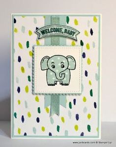 JanB Handmade Cards Atelier: A Little Wild Baby Card