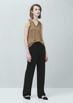 Patch pockets trousers -  Women | MANGO USA