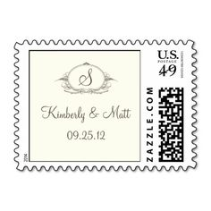 Classic Brown and Ivory Monogram Postage We have the best promotion for you and if you are interested in the related item or need more information reviews from the x customer who are own of them before please follow the link to see fully reviewsThis Deals          	Classic Brown and I...