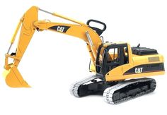 CATERPILLAR Excavator and over 7,500 other quality toys at Fat Brain Toys. This 1:16 scale replica of a Caterpillar Excavator is just like the real thing! Individually linked tracks create real movement and sound. The shovel arm scoops up anything while the cab rotates 360 degrees!
