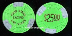 Las Vegas Casino Chip of the Day is a $25 Four Kings Casino for sale here http://www.all-chips.com/ChipDetail.php?ChipID=16372