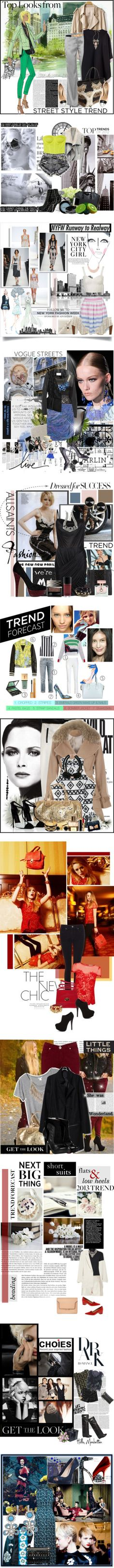 """""""SETS: TOP TRENDS 2013 (PART 2)"""" by sarratori ❤ liked on Polyvore"""