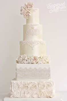 Fabulous Wedding Cakes From Sugared Saffron Cake Studio; www.sugaredsaffron.co.uk