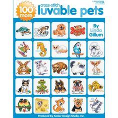 Leisure Arts-100 More Cross Stitch Luvable Pets