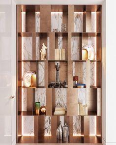Декоративный шкафчик-стеллаж из дерева в интерьере квартиры.  Decorative cabinet-wooden rack in the interior of the apartment #rack #shelving #wooden #стеллаж #издерева #мебельназаказ #wood #stone #copper