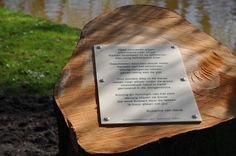Boomgedichtenroute Emile van Loonpark #roosendaal, gedicht van Suzanne van Genk.