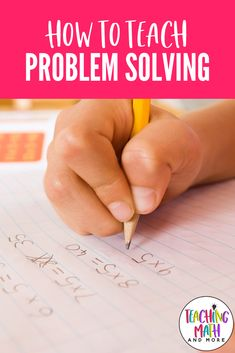 Do you teach problem solving in math? Access Problem Solving activities for kids in grades 3 through 8. Learn how to implement strategies and techniques to help your students. My students are able to understand, read, and write responses to math word problems. Download the free math problem solving guide today! Kindergarten Math Activities, Teaching Math, Math Enrichment, Teaching Tips, Problem Solving Activities, Problem Based Learning, Simple Math, Easy Math, Guided Math