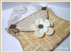 OLD FASHIONED VINTAGE LOOK PURSE SHAPED CARD by Cardcrazy