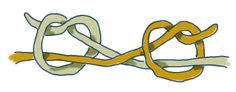 True lover's knot for tying leather cord ends.  Possible closure for crocheted bracelet.