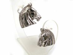 #Hermes Cheval Earring Metal Silver (BF055363) - Now: $182