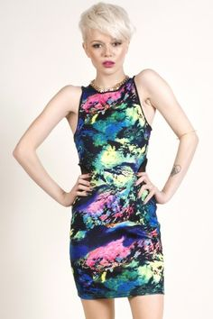 Wild Night Out Bodycon Dress - Clothes