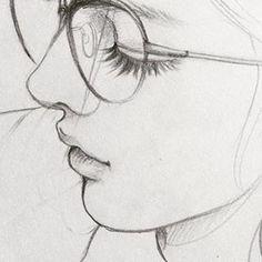 Pencil Drawings Of Girls, Girl Drawing Sketches, Dark Art Drawings, Girly Drawings, Art Drawings Sketches Simple, Drawing Art, Drawings Of Love, Pencil Drawing Images, Girl Hair Drawing