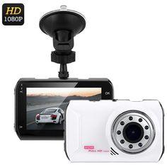 Full-HD Car DVR System (White)