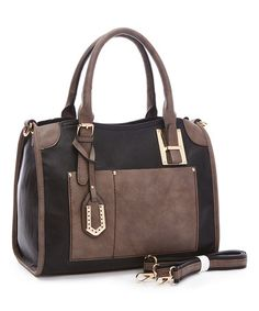 Another great find on #zulily! Black Dome Satchel & Crossbody Bag #zulilyfinds
