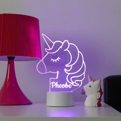 Our personalised unicorn night light is the must have unicorn gift and a perfect Childrens light! Who doesnt love unicorns? This adorable unicorn night lamp can be personalised for FREE! We engrave th Unicorn Bedroom Decor, Unicorn Rooms, Unicorn Gifts, Bedroom Night Light, Night Lamps, Night Lights, Star Night Light, Stars At Night, Girl Bedroom Designs