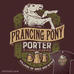 """""""Prancing Pony Porter"""" by Cory Freeman Number 9 in the ongoing Middle Earth Brews series! Collect them all! Inspired by The Prancing Pony Inn from The Lord of the Rings Village of Bree Brewers"""