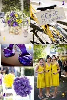 purple and yellow wedding idea | ... Wedding photos showcasing the best Purple and Yellow Wedding ideas and