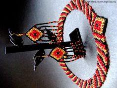 Комплект Месть Нофрет. Колье и серьги 'Месть Нофрет'.  Название позаимствовано у знаменитого детективного романа Агаты Кристи. Единственное произведение автора, где действие переносится во времена Древнего Египта.