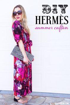 DIY Womens Clothing : DIY Hermès Summer Caftan Fashion Tutorial
