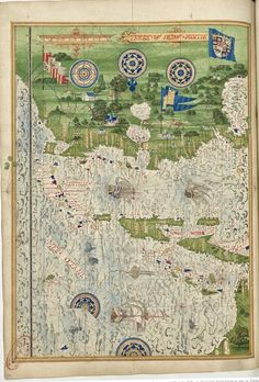 Universal Cosmography from Guillaume Le Testu - 1555 - The Peru lands Source : BNF.