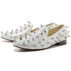 87df921492d14c Christian Louboutin Spikes Flat Sneaker Silver Fashion Heels