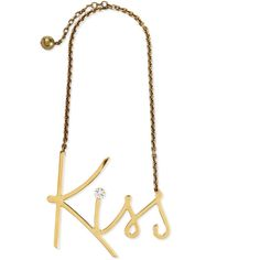 Lanvin Golden Kiss Pendant Necklace ($1,280) ❤ liked on Polyvore featuring jewelry, necklaces, gold, dot necklace, stella & dot jewelry, bead pendant, cable chain necklace y bead necklace