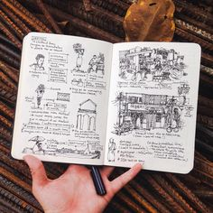Travel sketching/ journal inspiration